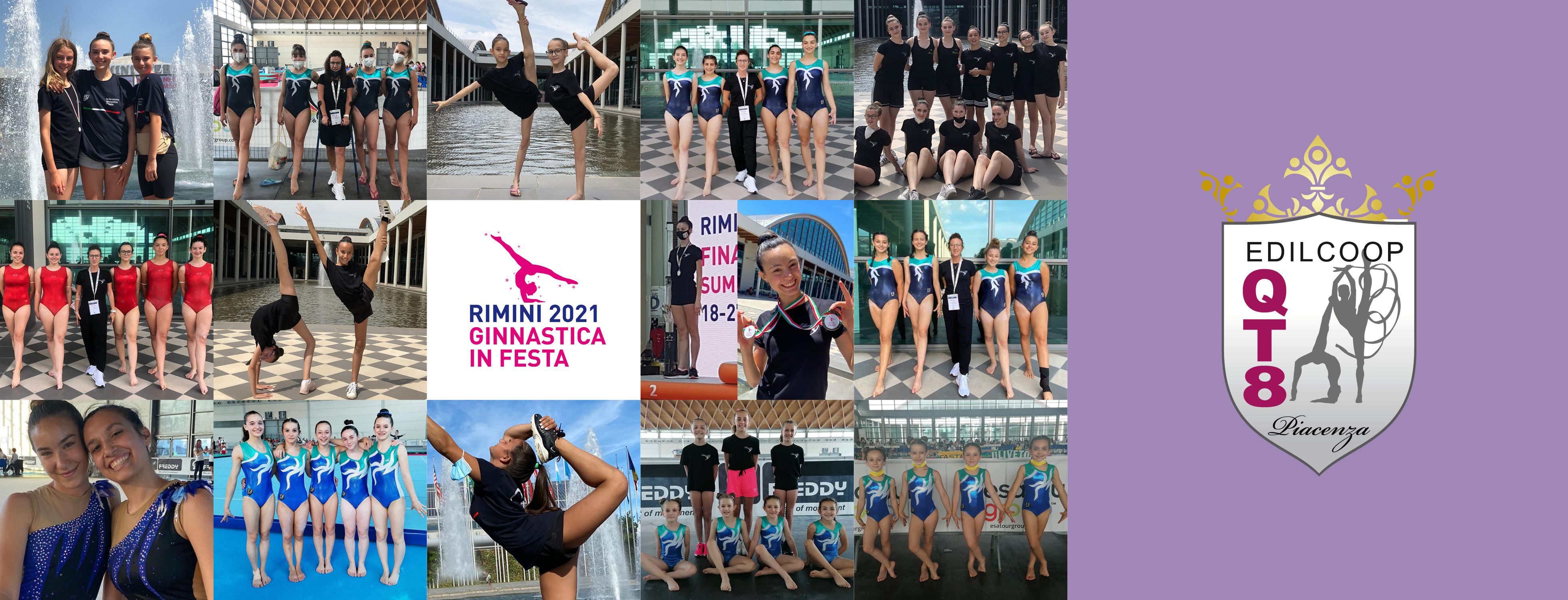 50 ginnaste dell'Edilcoop QT8 a Rimini per i campionati nazionali FGI